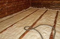 Утепление пола ППУ в деревянном доме