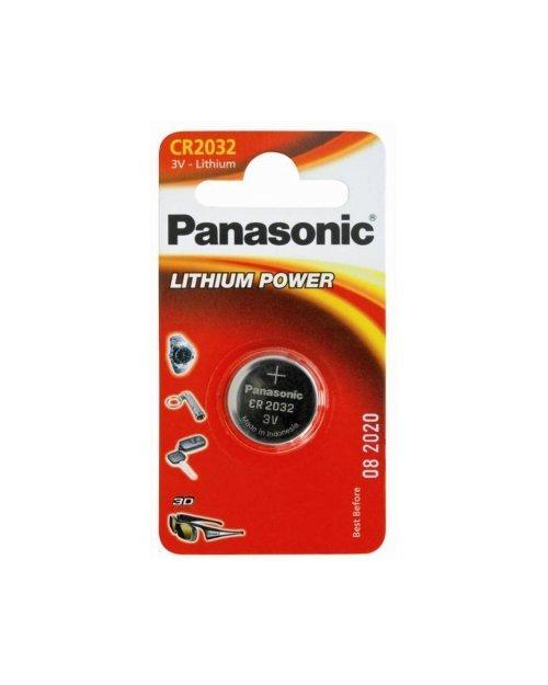 Батарейка дисковая литиевая PANASONIC CR-2032/1BP