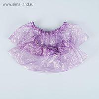 """Бахилы """"Прочные"""", фиолетовые, 36 микрон, 100 пар"""