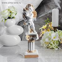 """Статуэтка """"Ангел на колонне"""" малый, золото, 32 см"""