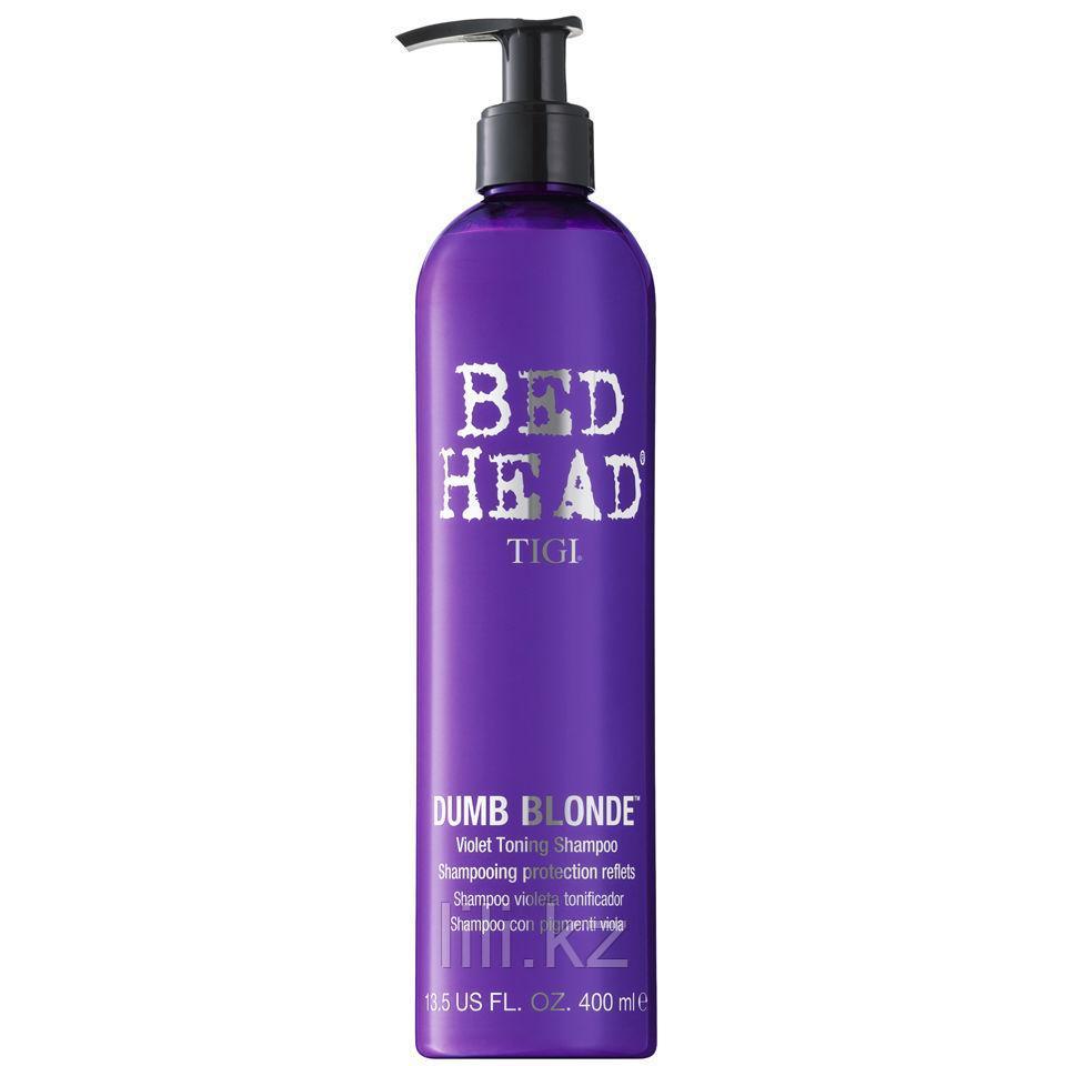 Шампунь-корректор цвета -Tigi Bed Head Dumb Blonde Purple Toning Shampoo 400 мл.