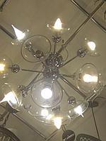 Люстра лофт прозрачные стекла 12 рожков