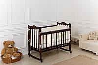Кровать детская Incanto Pali с мишкой колесо-качалка (цвет венге)