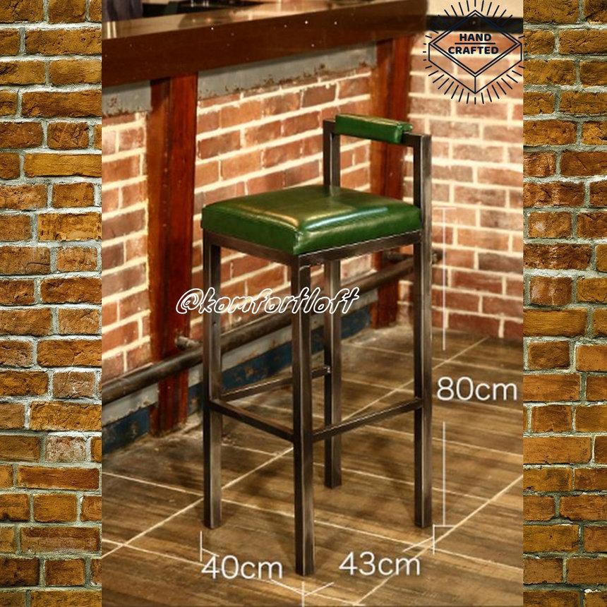 Высокий барный стул в стиле Лофт, фото 2