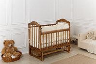 Кровать детская Incanto Pali с мишкой маятник поперечный (цвет орех), фото 1