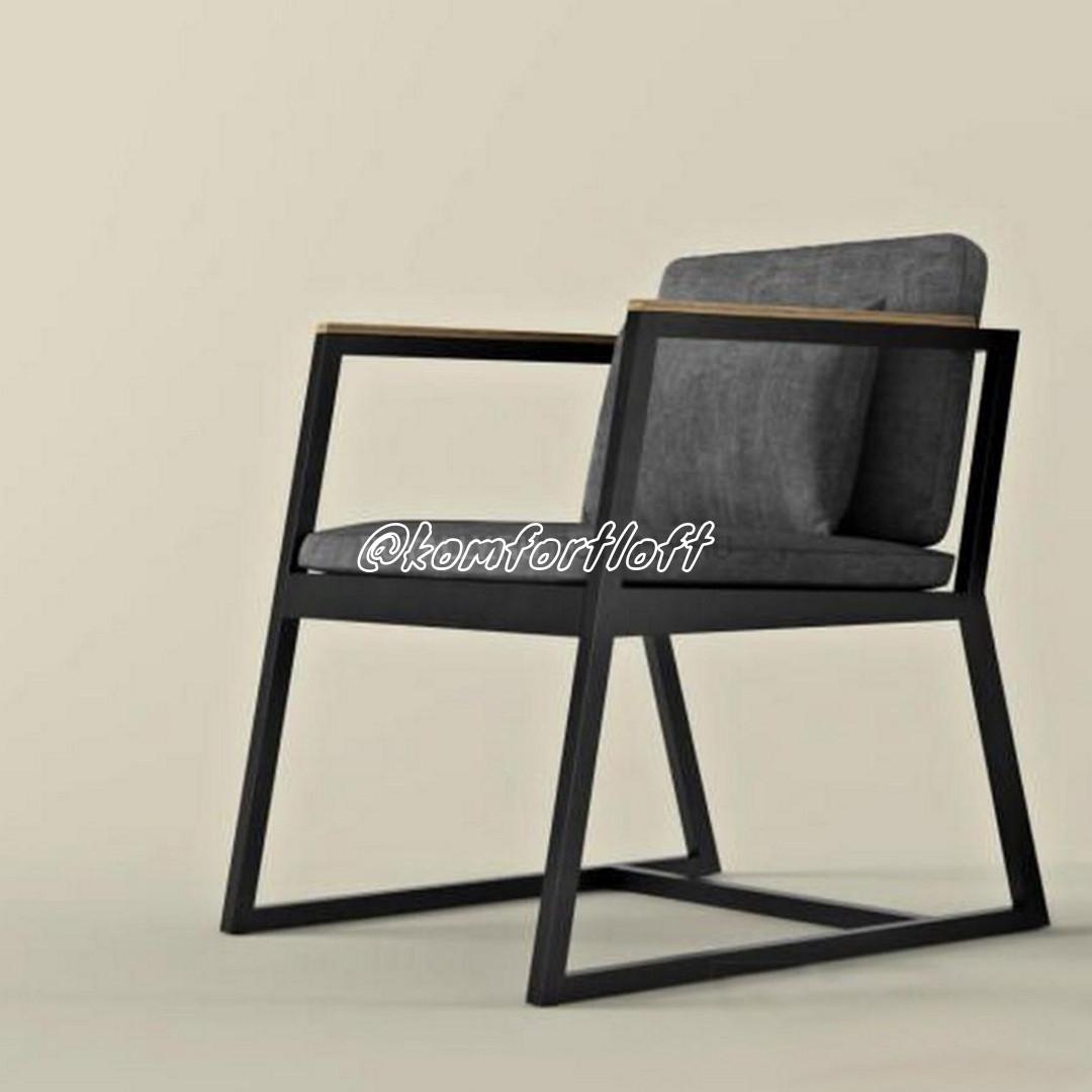 Кресло из металла в стиле Лофт