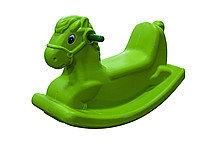 Детские качели-качалка в виде лошадки (зеленые)
