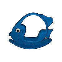 """Качалка детская """"Рыбка"""", синяя"""