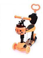 Самокат Scooter 5в1, оранжевый