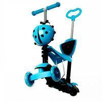 Самокат Scooter 5в1, синий