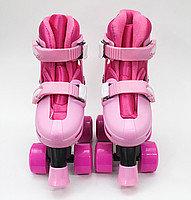 Роликовые коньки детские, розовые