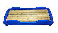 Детская мобильная кроватка, синяя