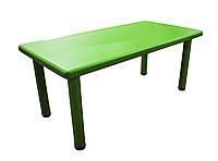 Столик пластиковый, зелёный, 120*60*51 см