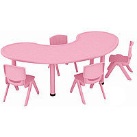 Пластиковый детский столик фигурный, розовый, Китай