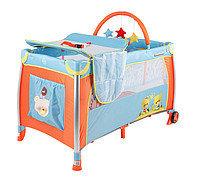 Спально-игровой манеж-кровать с пеленатором и дугой Quatro Lulu 3