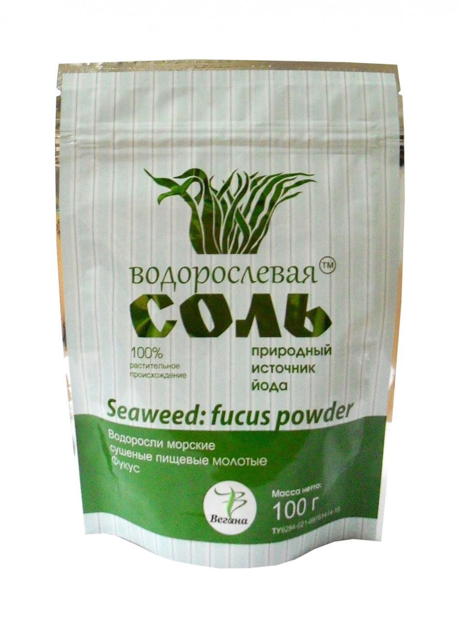 """Фукус сушеный пищевой молотый ТМ """"Водорослевая соль"""" 100 гр"""