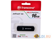 USB Флеш накопитель 16GB Transcend 2.0  TS16GJF350 (черный)