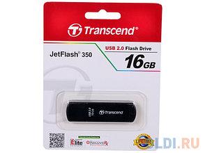 USB Флеш накопитель 16GB Transcend 2.0  TS16GJF350 (черный), фото 2