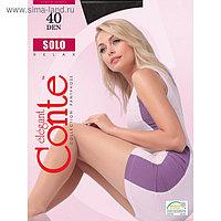 Колготки женские CONTE ELEGANT SOLO, 40 ден, цвет чёрный (nero), размер 5