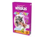 Whiskas (Вискас) сухой корм для котят подушечки молочные молоко, индейка, морковь, 350г.