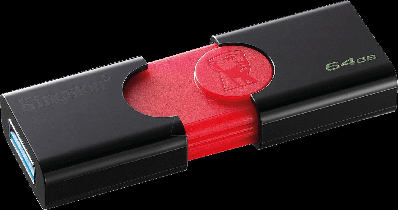 USB Флеш накопитель 64GB Kingston DT106 3.0 (черный)