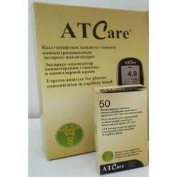 Тест полоски  глюкозы АТ Care №50