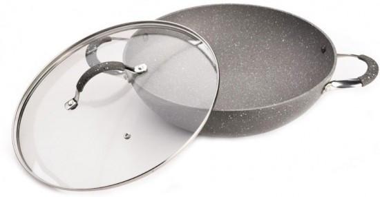 Сковорода - вок «Iron Stone» с крышкой (диаметр 30 см)