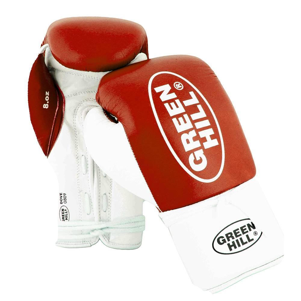 Перчатки боксерские DOVE для профессионального бокса  (Натуральная кожа) GREEN HILL