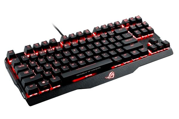 Игровая клавиатура ASUS M802 Claymore Core Cherry MX RGB Black USB, Black, 90MP00I3-B0RA00