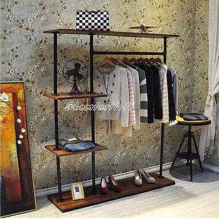 Вешалка с полочками для одежды в стиле Лофт, фото 2