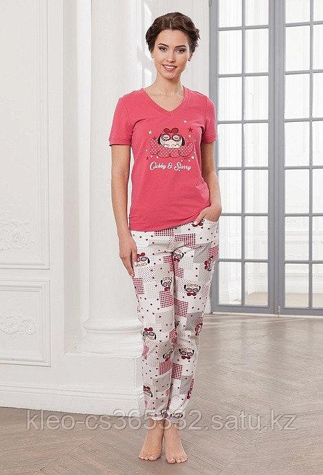 Комплект домашний, футболка+брюки, р-ры 44-52
