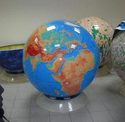 Глобус физический  1м 30 см, вращаемый во всех направлениях, разборный