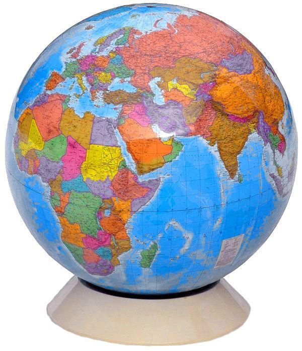 Глобус политический  1м 30 см, вращаемый во всех направлениях, разборный
