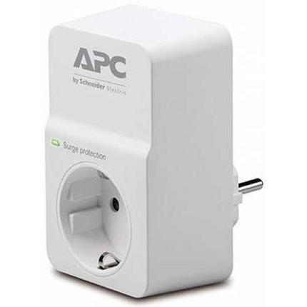 APC Сетевой фильтр PM1W-RS Essential SurgeArrest, 1 розетка, 230 В, CEE7 Schuko, белый, фото 2