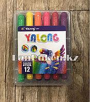 Набор жидких мелков Yalong YL95076-12 в пластиковом контейнере 12 цветов