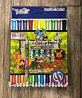 Набор цветных двухсторонних фломастеров Tong Di TD56889-10 (10 фломастеров, 20 цветов)