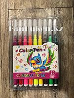 Набор цветных фломастеров Tong Di TD-6886-18 (18 цветов) в пластиковой упаковке с толстым концом