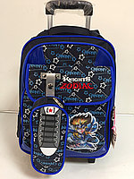 Школьный рюкзак на колесах для мальчика с 1-го по 4- й класс.Высота 46 см, длина 28 см, ширина 19 см., фото 1