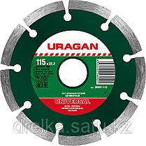 Круги отрезные алмазные URAGAN сегментные, сухая резка, фото 2