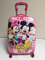 Детский дорожный чемодан на 4-х колесах, ABS-пластик. Высота 45 см,длина 30 см,ширина 21 см., фото 1