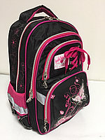 Школьный рюкзак для девочек в 1-й класс. Высота 38 см, длина 26 см, ширина 16 см., фото 1