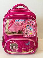 Школьный рюкзак для девочек с 3-го по 5-й класс.Высота 40см,длина 29см,ширина 18см., фото 1
