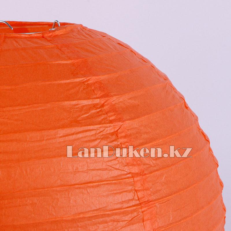 Бумажный подвесной фонарь на Хэллоуин в виде тыквы складной (маленький 20 см) - фото 3