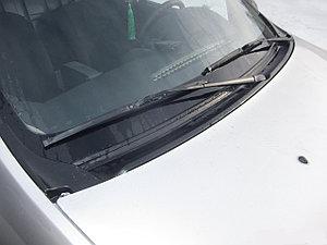Накладка в проем стеклоочистителей (жабо) (ABS) LADA Largus 2012-