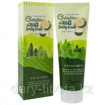 Elizavecca MIlky Piggy Green Tea Salt Body Scrub -Очищающий скраб для тела с морской солью и зеленым чаем