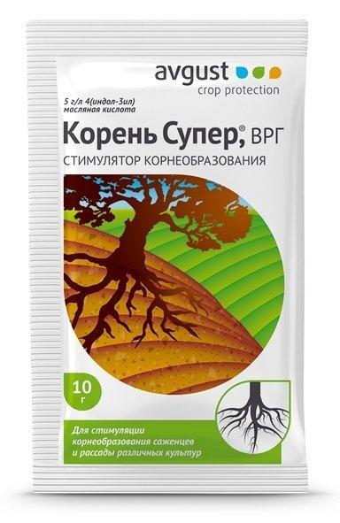 Корень Супер! Стимулятор корнеобразования саженцев и черенков плодовых, ягодных, декоративных культур.