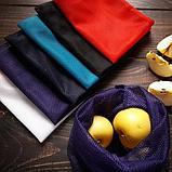Синтетика. Многоразовый мешочек авоська для овощей и фруктов., фото 4