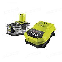 Аккумулятор Ryobi ONE+ RBC18LL15 (18 В; 1.5 А*ч; Li-Ion) 2 шт. + зарядное устройство (5133001914)