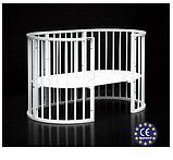 Кроватка детская Bambini овальная М 01.10.14 Белый, фото 4