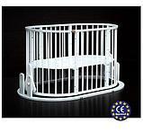 Кроватка детская Bambini овальная М 01.10.14 Белый, фото 5